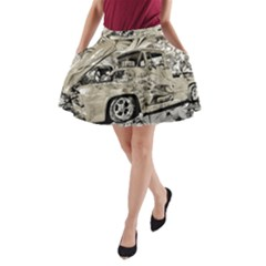Old Ford Pick Up Truck  A-Line Pocket Skirt