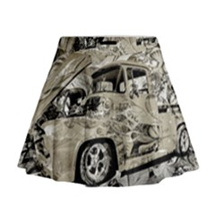 Old Ford Pick Up Truck  Mini Flare Skirt