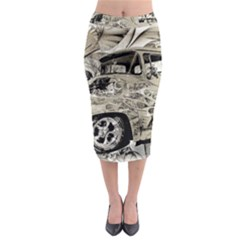 Old Ford Pick Up Truck  Midi Pencil Skirt