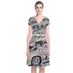 Old Ford Pick Up Truck  Wrap Dress