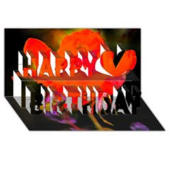 Red Beauty Happy Birthday 3D Greeting Card (8x4)