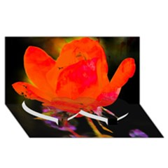 Red Beauty Twin Heart Bottom 3d Greeting Card (8x4)