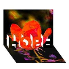 Red Beauty HOPE 3D Greeting Card (7x5)