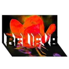 Red Beauty BELIEVE 3D Greeting Card (8x4)