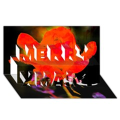 Red Beauty Merry Xmas 3D Greeting Card (8x4)