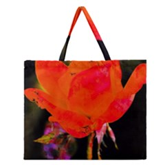 Red Beauty Zipper Large Tote Bag