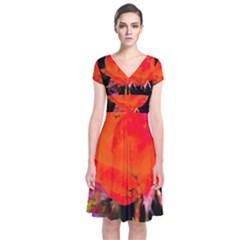 Red Beauty Wrap Dress