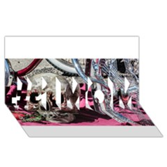 Skull and Bike #1 MOM 3D Greeting Cards (8x4)