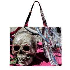 Skull and Bike Large Tote Bag