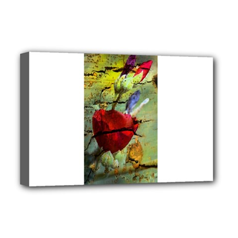 Rusty Globe Mallow Flower Deluxe Canvas 18  X 12