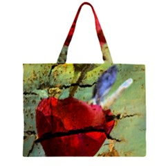 Rusty Globe Mallow Flower Large Tote Bag