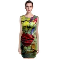 Rusty Globe Mallow Flower Classic Sleeveless Midi Dress