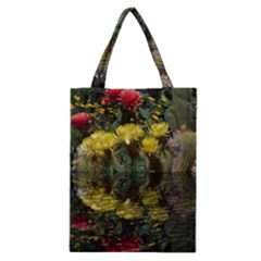 Cactus Flowers with Reflection Pool Classic Tote Bag
