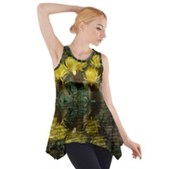 Cactus Flowers With Reflection Pool Side Drop Tank Tunic