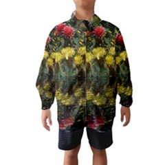 Cactus Flowers With Reflection Pool Wind Breaker (kids)