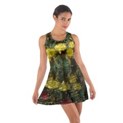Cactus Flowers With Reflection Pool Racerback Dresses