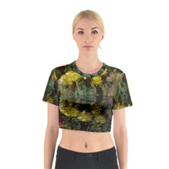 Cactus Flowers With Reflection Pool Cotton Crop Top
