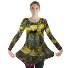 Cactus Flowers With Reflection Pool Long Sleeve Tunic