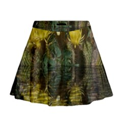 Cactus Flowers with Reflection Pool Mini Flare Skirt