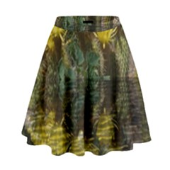 Cactus Flowers with Reflection Pool High Waist Skirt