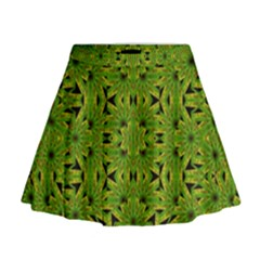 Geometric African Print Mini Flare Skirt