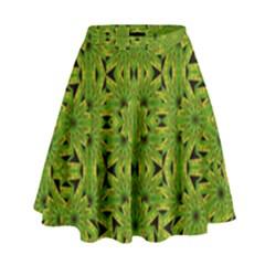 Geometric African Print High Waist Skirt