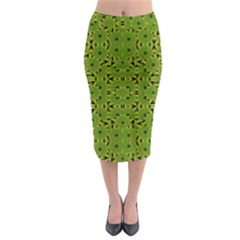 Geometric African Print Midi Pencil Skirt
