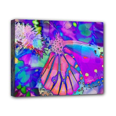 Psychedelic Butterfly Canvas 10  x 8
