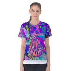 Psychedelic Butterfly Women s Cotton Tee