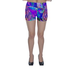 Psychedelic Butterfly Skinny Shorts