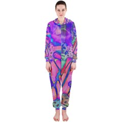 Psychedelic Butterfly Hooded Jumpsuit (Ladies)