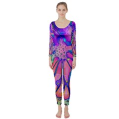 Psychedelic Butterfly Long Sleeve Catsuit