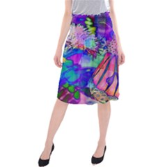 Psychedelic Butterfly Midi Beach Skirt