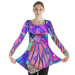 Psychedelic Butterfly Long Sleeve Tunic