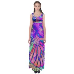 Psychedelic Butterfly Empire Waist Maxi Dress