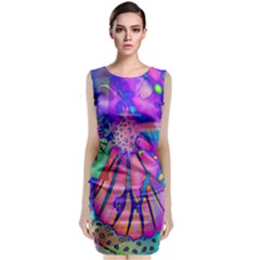 Psychedelic Butterfly Classic Sleeveless Midi Dress