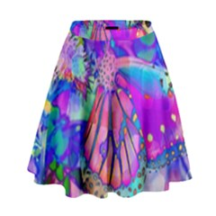 Psychedelic Butterfly High Waist Skirt