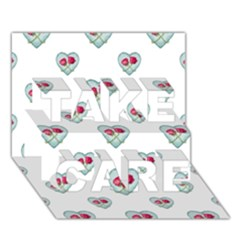 Love Ornate Motif Print TAKE CARE 3D Greeting Card (7x5)