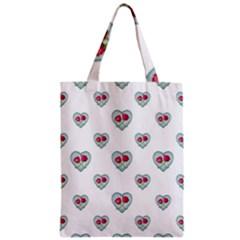 Love Ornate Motif Print Zipper Classic Tote Bag