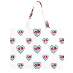 Love Ornate Motif Print Large Tote Bag