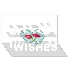 Love Ornate Motif  Best Wish 3D Greeting Card (8x4)