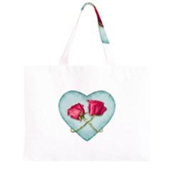 Love Ornate Motif  Large Tote Bag