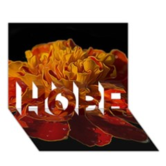 Marigold on Black HOPE 3D Greeting Card (7x5)