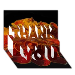 Marigold on Black THANK YOU 3D Greeting Card (7x5)