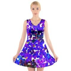 Abstract Land2 11 V-Neck Sleeveless Skater Dress