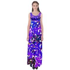 Abstract Land2 11 Empire Waist Maxi Dress