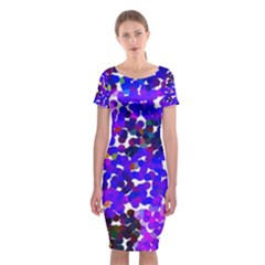 Abstract Land2 11 Classic Short Sleeve Midi Dress