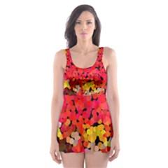 Red22 Skater Dress Swimsuit