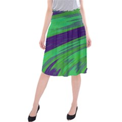 Swish Green Blue Midi Beach Skirt