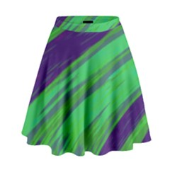 Swish Green Blue High Waist Skirt